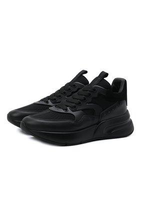 Мужские комбинированные кроссовки ALEXANDER MCQUEEN черного цвета, арт. 604281/WHXI1 | Фото 1