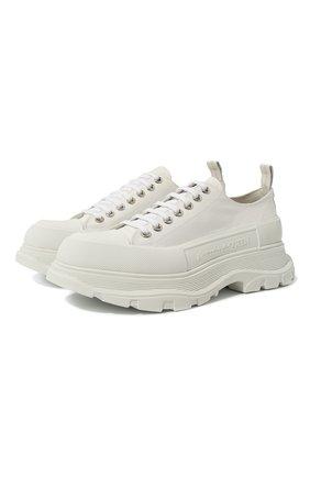 Мужские текстильные кроссовки ALEXANDER MCQUEEN белого цвета, арт. 604257/W4L32 | Фото 1