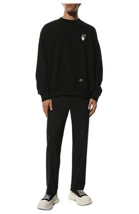 Мужские текстильные кроссовки ALEXANDER MCQUEEN черно-белого цвета, арт. 604257/W4L32 | Фото 2