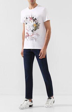 Мужские кожаные кеды portofino DOLCE & GABBANA белого цвета, арт. CS1772/AJ609 | Фото 2
