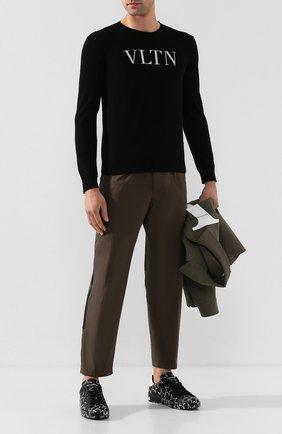 Мужские кожаные кеды portofino DOLCE & GABBANA черного цвета, арт. CS1772/AJ609 | Фото 2