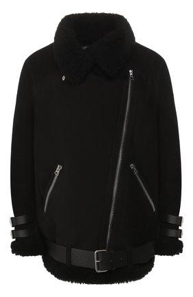 Женская дубленка с косой молнией ACNE STUDIOS черного цвета, арт. 1AR173 | Фото 1