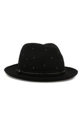 Женская фетровая шляпа GIORGIO ARMANI черного цвета, арт. 797391/9A597   Фото 1