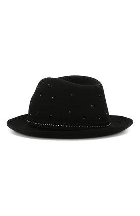 Женская фетровая шляпа GIORGIO ARMANI черного цвета, арт. 797391/9A597   Фото 2