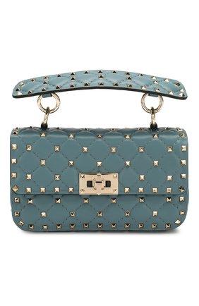 Женская сумка valentino garavani rockstud spike small VALENTINO бирюзового цвета, арт. TW2B0123/NAP | Фото 1