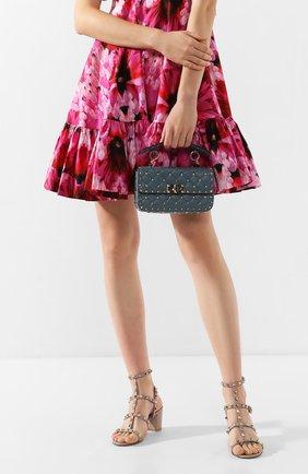 Женская сумка valentino garavani rockstud spike small VALENTINO бирюзового цвета, арт. TW2B0123/NAP | Фото 2