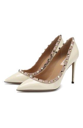 Женская кожаные туфли valentino garavani rockstud VALENTINO белого цвета, арт. TW2S0057/VNW | Фото 1