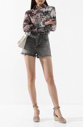 Женские кожаные босоножки valentino garavani rockstud double VALENTINO бежевого цвета, арт. TW2S0780/VT0 | Фото 2