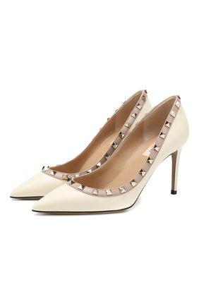 Женская кожаные туфли valentino garavani rockstud VALENTINO белого цвета, арт. TW2S0A04/V0D | Фото 1