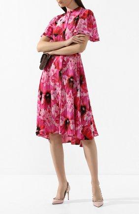 Женская кожаные туфли valentino garavani rockstud VALENTINO светло-розового цвета, арт. TW2S0A04/VNW | Фото 2