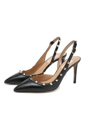 Женская кожаные туфли valentino garavani rockstud VALENTINO черного цвета, арт. TW2S0H04/VCE | Фото 1