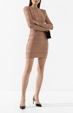 Женская кожаные туфли valentino garavani rockstud VALENTINO черного цвета, арт. TW2S0H04/VCE | Фото 2