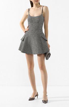 Женская кожаные туфли valentino garavani rockstud VALENTINO серебряного цвета, арт. TW2S0H14/SQX | Фото 2