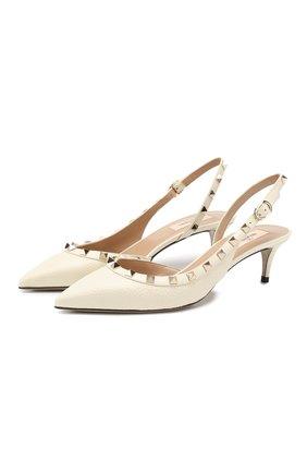 Женская кожаные туфли valentino garavani rockstud VALENTINO белого цвета, арт. TW2S0H14/VCE | Фото 1