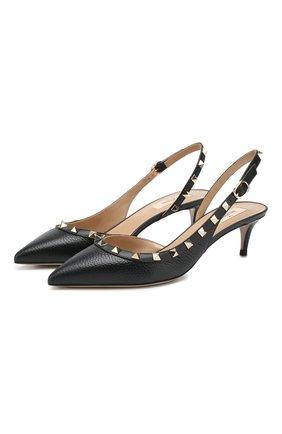Женская кожаные туфли valentino garavani rockstud VALENTINO черного цвета, арт. TW2S0H14/VCE | Фото 1