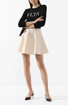Женская кожаные туфли valentino garavani rockstud VALENTINO черного цвета, арт. TW2S0H14/VCE | Фото 2