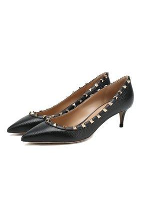 Женская кожаные туфли valentino garavani rockstud VALENTINO черного цвета, арт. TW2S0V22/VCE | Фото 1