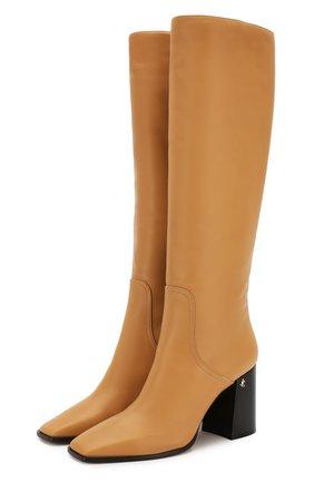 Женские кожаные сапоги brionne 85 JIMMY CHOO светло-коричневого цвета, арт. BRI0NNE 85/SLQ | Фото 1