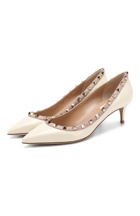 Женская кожаные туфли valentino garavani rockstud VALENTINO белого цвета, арт. TW2S0V22/VNW | Фото 1