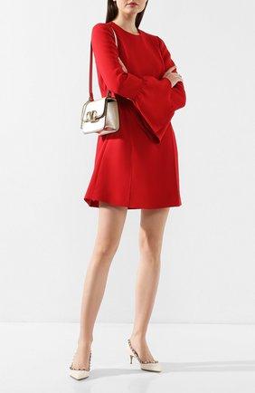 Женская кожаные туфли valentino garavani rockstud VALENTINO белого цвета, арт. TW2S0V22/VNW | Фото 2