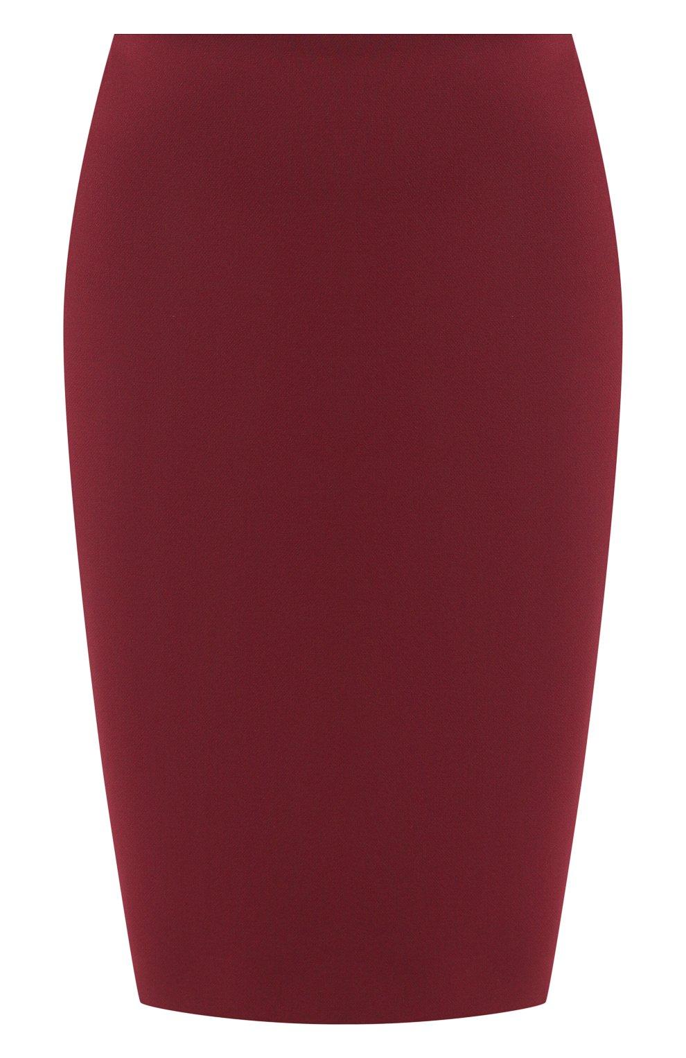 Женская юбка BOSS бордового цвета, арт. 50420112 | Фото 1