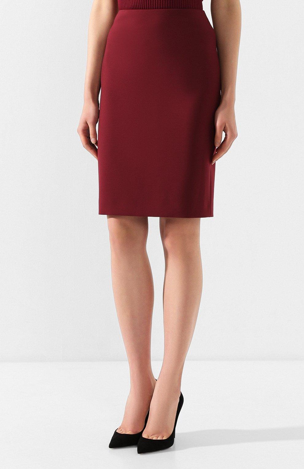 Женская юбка BOSS бордового цвета, арт. 50420112 | Фото 3