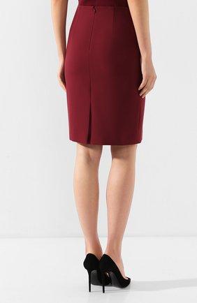Женская юбка BOSS бордового цвета, арт. 50420112 | Фото 4