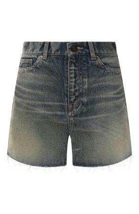 Женские джинсовые шорты SAINT LAURENT синего цвета, арт. 611755/Y564V | Фото 1