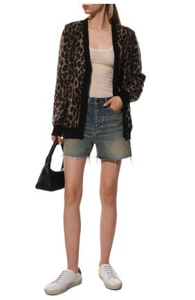 Женские джинсовые шорты SAINT LAURENT синего цвета, арт. 611755/Y564V | Фото 2