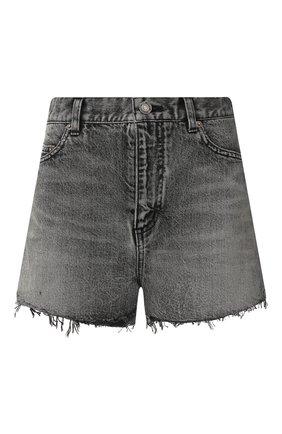 Женские шорты SAINT LAURENT темно-серого цвета, арт. 597005/Y8990 | Фото 1
