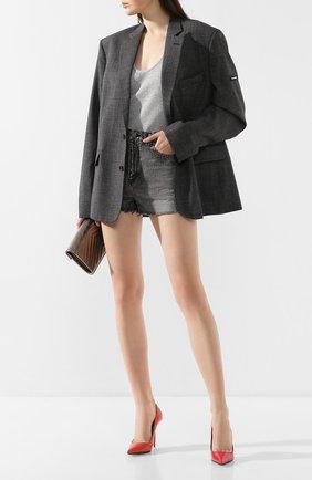 Женские шорты SAINT LAURENT темно-серого цвета, арт. 597005/Y8990 | Фото 2