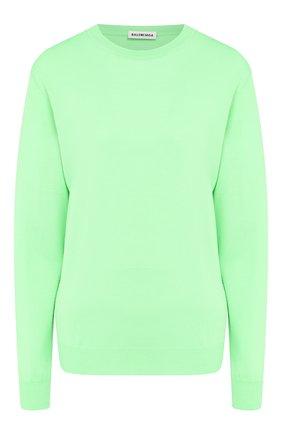 Женский шерстяной пуловер BALENCIAGA зеленого цвета, арт. 583093/T1439 | Фото 1
