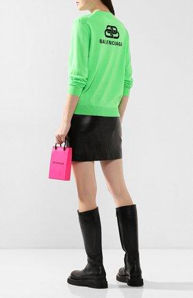 Женский шерстяной пуловер BALENCIAGA зеленого цвета, арт. 583093/T1439 | Фото 2