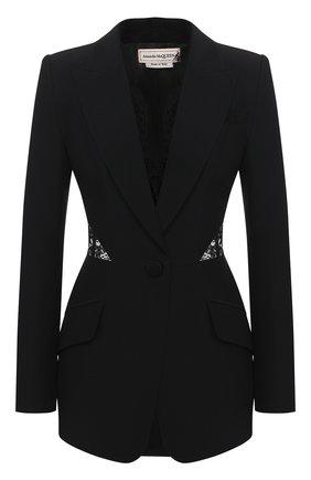 Женский жакет ALEXANDER MCQUEEN черного цвета, арт. 607334/QEAAA | Фото 1