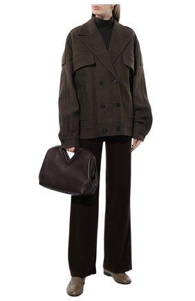 Женские кашемировые брюки LORO PIANA коричневого цвета, арт. FAI6763   Фото 2