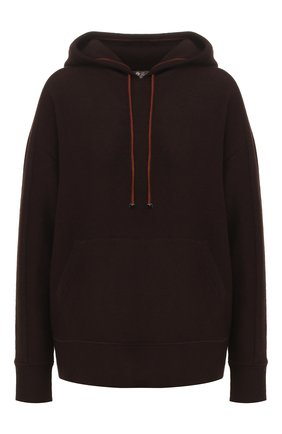 Женский кашемировый пуловер с капюшоном LORO PIANA коричневого цвета, арт. FAI2938   Фото 1