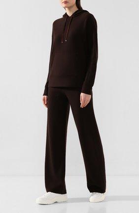 Женский кашемировый пуловер с капюшоном LORO PIANA коричневого цвета, арт. FAI2938   Фото 2