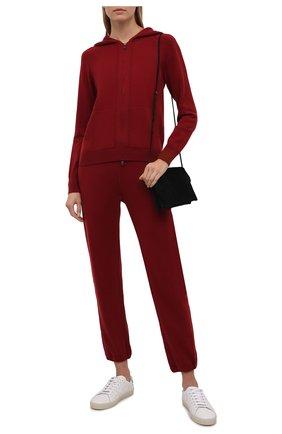 Женский кашемировый кардиган LORO PIANA темно-бордового цвета, арт. FAG3599 | Фото 2 (Материал внешний: Шерсть, Кашемир; Длина (для топов): Стандартные; Женское Кросс-КТ: Кардиган-одежда; Рукава: Длинные; Стили: Кэжуэл)