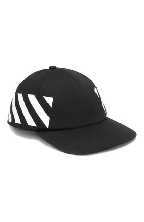Мужской хлопковая бейсболка OFF-WHITE черного цвета, арт. 0MLB008R204000181001 | Фото 1