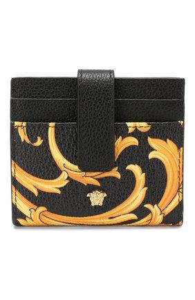 Мужской кожаный футляр для кредитных карт VERSACE золотого цвета, арт. DPN7853/DVTG8 | Фото 1