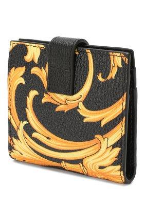 Мужской кожаный футляр для кредитных карт VERSACE золотого цвета, арт. DPN7853/DVTG8 | Фото 2