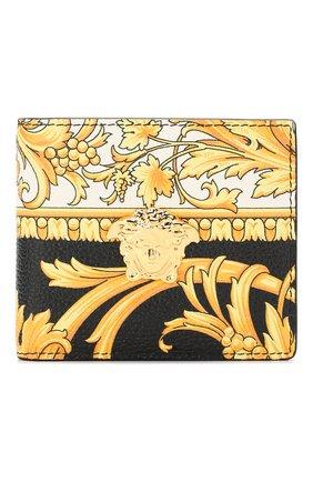 Мужской кожаное портмоне VERSACE золотого цвета, арт. DPU6737/DVTG8 | Фото 1
