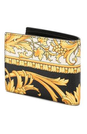 Мужской кожаное портмоне VERSACE золотого цвета, арт. DPU6737/DVTG8 | Фото 2