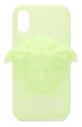 Мужской чехол для iphone x VERSACE светло-зеленого цвета, арт. DPY7314M/DPCME | Фото 1