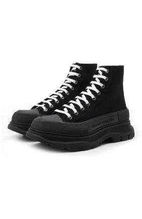 Мужские текстильные ботинки tread slick ALEXANDER MCQUEEN черного цвета, арт. 604254/W4L32 | Фото 1