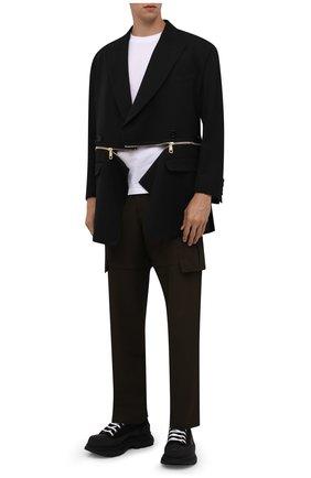 Мужские текстильные ботинки tread slick ALEXANDER MCQUEEN черного цвета, арт. 604254/W4L32 | Фото 2