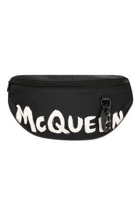 Мужская текстильная поясная сумка ALEXANDER MCQUEEN черно-белого цвета, арт. 596425/HWC1K | Фото 1