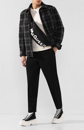 Мужская текстильная поясная сумка ALEXANDER MCQUEEN черно-белого цвета, арт. 596425/HWC1K | Фото 2