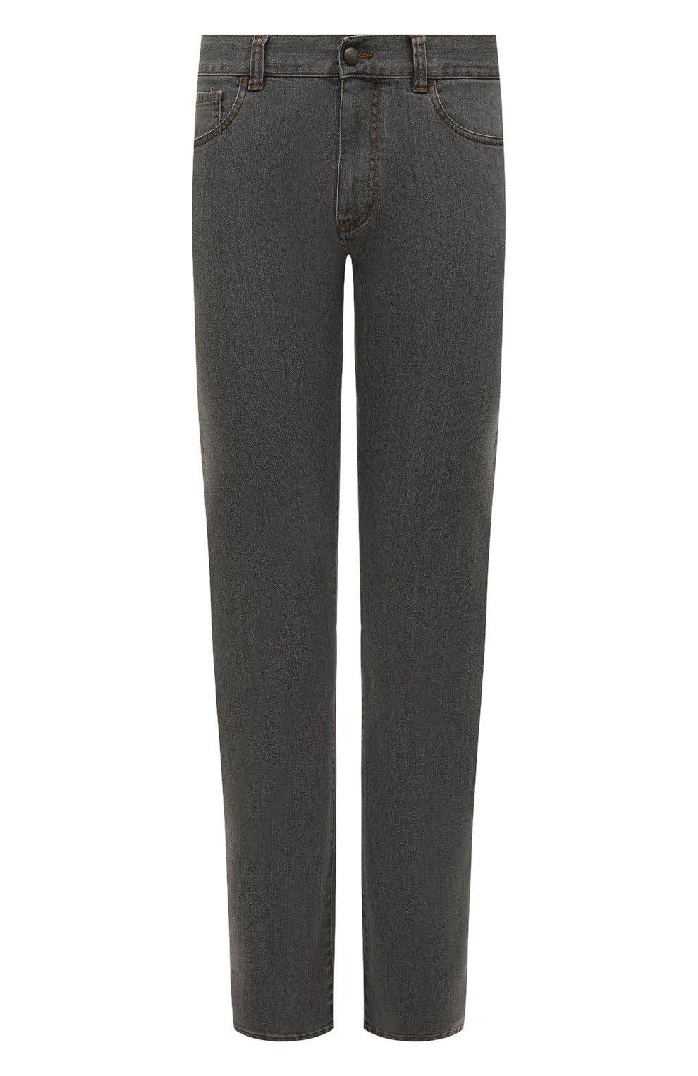 Мужские джинсы CANALI серого цвета, арт. 91700/PD00018   Фото 1