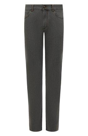 Мужские джинсы CANALI серого цвета, арт. 91700/PD00018 | Фото 1